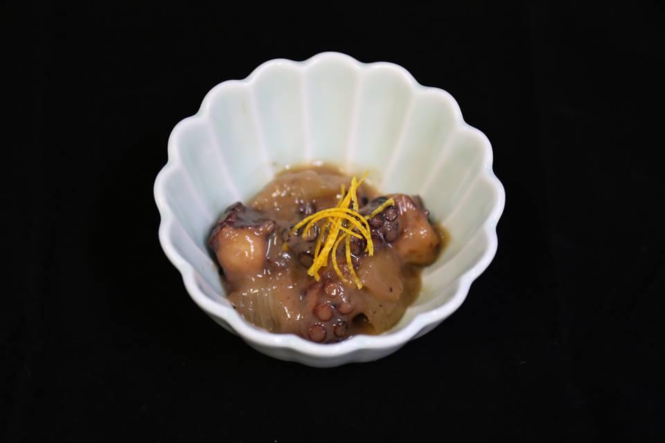 泉州焼き(たこの玉ねぎ味噌炒め)